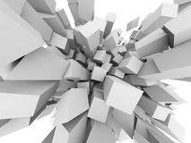 3D cubes explode Royalty Free Stock Photos