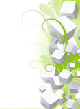 3d Cubes Flourish Background Stock Image