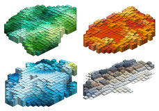 3d cubes, fond de vecteur Images stock