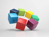 3d cubes-infographic Stock Photo