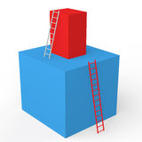3d cubes with ladders Royalty Free Stock Image