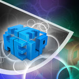 3d cubes with logo HELP Royalty Free Stock Images