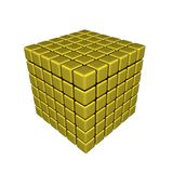 3D Cubes - Isolated. 3D Cubes - Metallic (white or transparent background Royalty Free Stock Photo