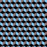 3d cubes - modèle sans couture de vecteur Image libre de droits