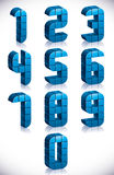 3d cubes numbers set. Stock Photography