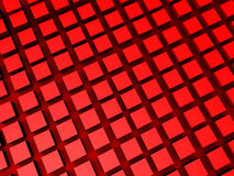 3d cubes red abstract background. Red background concept with 3d cubes vector illustration
