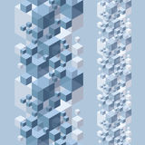 3d cubes seamless background. Royalty Free Stock Photos