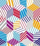 3d cubes seamless pattern, geometric Stock Photography