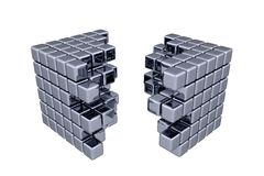 3D Cubes. Separation (white or transparent background Stock Images