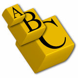 3d abc cubes stock illustration