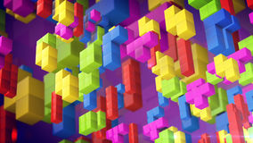 3d cubes from tetris game. Stock Images