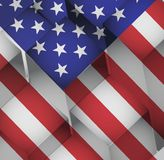 3d cubes usa american flag illustration Royalty Free Stock Image