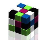 3D cubes on white background Stock Photos