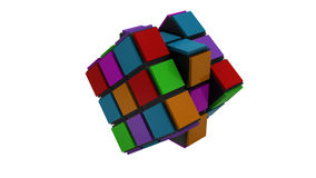 3d Cubic Strategy puzzle stock footage