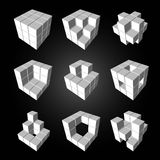 3d cubic. Vector, 3Ds cubics pattern,  EPS files with high flexibility. You can create your own by remove some block out Stock Image