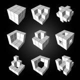 3d cubic Stock Image