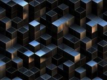 3d cubica el fondo abstracto stock de ilustración