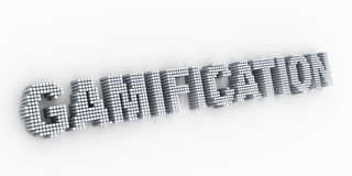 3d cubica el gamification de la palabra del texto del dise?o de la matriz stock de ilustración
