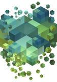 3D cubos abstractos, vector ilustración del vector