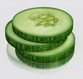 3d Cucumber Royalty Free Stock Photos
