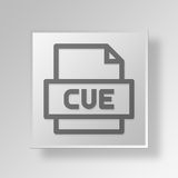 3D CUE File icon Business Concept. 3D Symbol Gray Square CUE File icon Business Concept Royalty Free Stock Images
