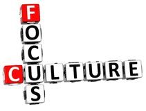 3D Culture Focus Crossword cube words. On white background Stock Image