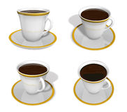 3d cup and coaster range four set Royalty Free Stock Image