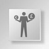 3D currency icon Business Concept Stock Photo