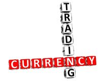 3D Currency Trading Crossword Stock Photography