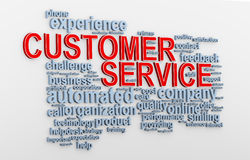 3d Customer service wordcloud Royalty Free Stock Images