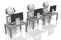 3D customer support concept Stock Photography