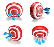 3d cute darts and memo range four set . 3D Icon Design Series. Stock Photography