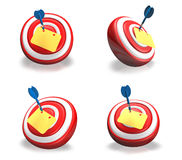 3d cute darts and memo range four set . 3D Icon Design Series. Stock Images