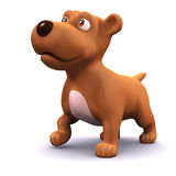 3d Cute puppy dog Royalty Free Stock Images