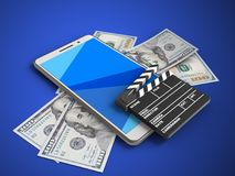 3d cyan-blau Lizenzfreie Stockfotografie