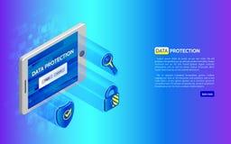3D Cyber-concept van de veiligheidstechnologie Stock Foto's