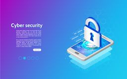 3D Cyber-het mechanismeconcept van de veiligheidstechnologie Royalty-vrije Stock Afbeeldingen