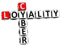 3D Cyber lojalności Crossword ilustracja wektor