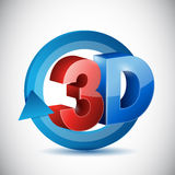 3d cycle sign illustration design Royalty Free Stock Images