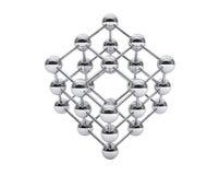 3d cząsteczkowa struktura jako sześcian royalty ilustracja