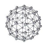 3d cząsteczkowej struktury geometrii model odizolowywający nad bielem Obraz Stock