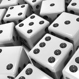 3d Czarny i biały kostka do gry Obraz Royalty Free