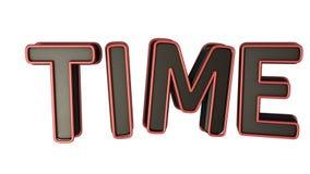 3D czasu słowo royalty ilustracja