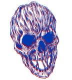 3d czaszka ilustracji