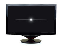3D czerni tv pokaz obrazy stock
