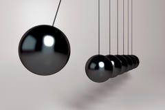 3D czerni wahadła piłki Fotografia Royalty Free