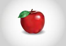 3d czerwieni jabłko Ilustracja Wektor