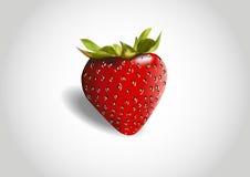 3d czerwieni truskawka Ilustracji