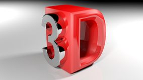 3D czerwona ikona - 3D rendering Zdjęcie Royalty Free