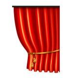 3d czerwona luksusowa jedwabnicza zasłona, realistyczny wewnętrznej dekoraci aksamit Zdjęcie Royalty Free